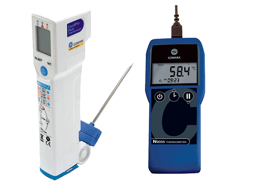 1 kanals termometer samt Differenstryk målere og digitalt fødevaretermometer
